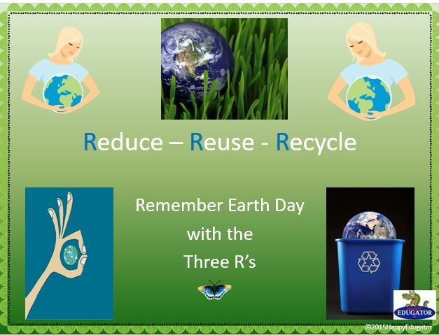 Celebrate Earth Day with these spring activities! Earth Day history, Earth Day flag, Earth Day anthem, Earth Day Activities and many different ways to reduce, reuse, and recycle.