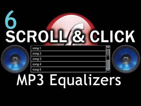 6. Graphic Equalizer - Flash Scroll List MP3 Visuals Amplitude AS3 XML T...