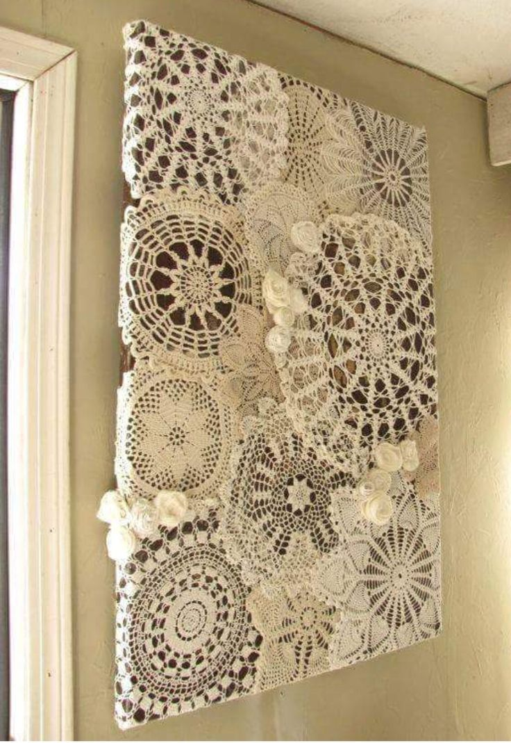 Doilies. Saw this on Facebook. Love it.