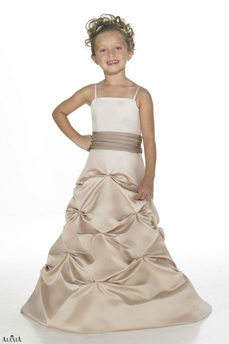 30 best alexia junior dresses 2013 images on pinterest junior satin princess spaghetti straps pick ups champagne flower girl dress picture 1 ombrellifo Images