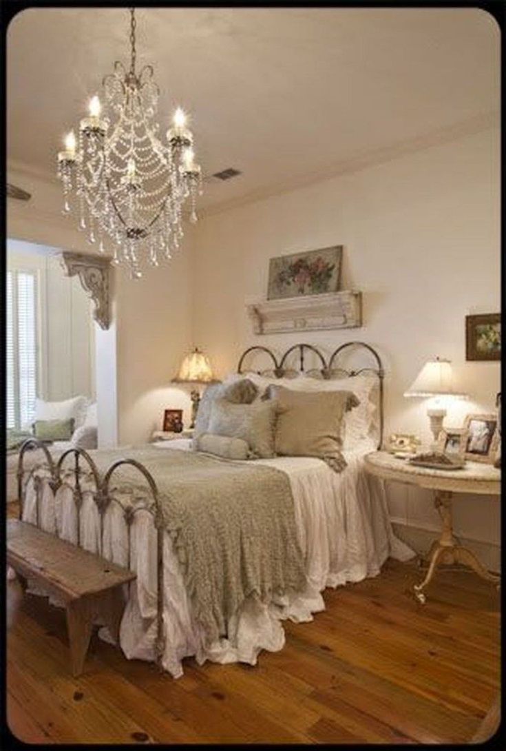 Love the elegant chandelier paired with rustic