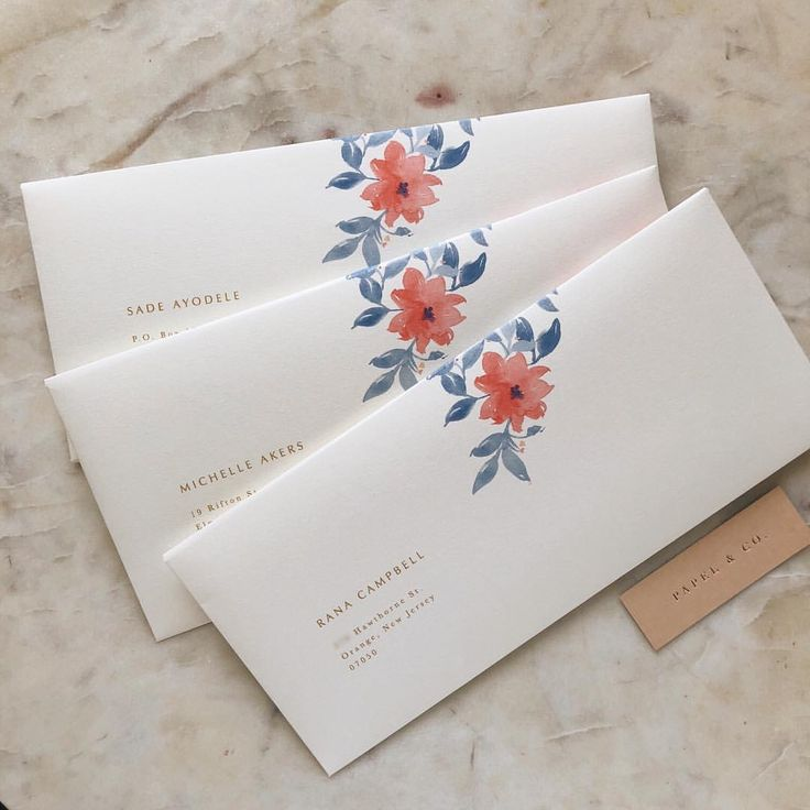 """6,354 Likes, 84 Comments - Papel & Co. by Nat Otálora (@papelnco) on Instagram: """"Love the mix of simple typography and organic florals for these envelopes✨ designing these…"""""""