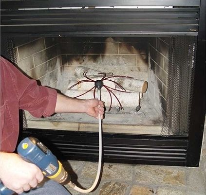 Device for Fireplace Cleaning