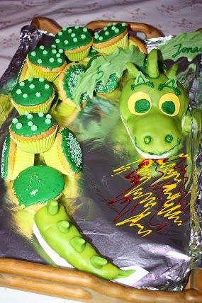 Drachen - Muffin - Kuchen