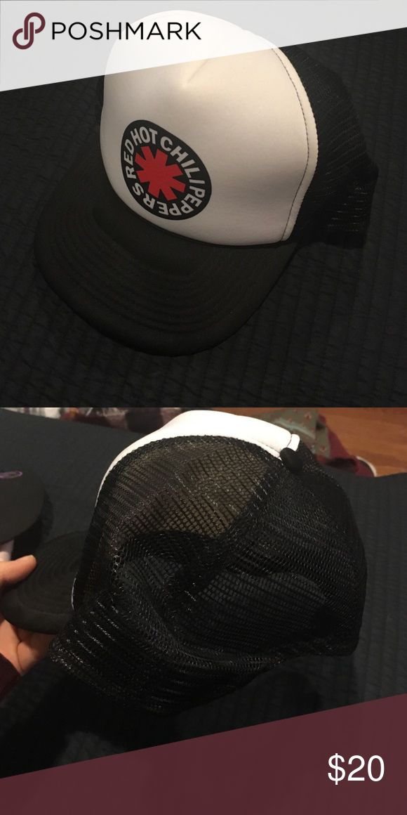Red Hot Schillig Peppers tour hat Black netting red hot chili peppers hat. Worn one time; excellent condition. Accessories Hats