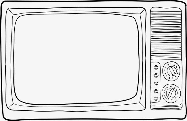 Televizionnyj Eskiz Tv Televizionnyj Eskiz Vintazh Televizor Png I Vektor Png Dlya Besplatnoj Zagruzki Vintage Tv Clip Art Cool Easy Drawings