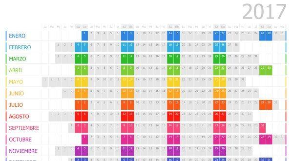 Supercolección de calendarios y planificadores 2017 Gran Formato. Listos para…