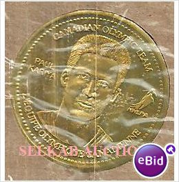 2002 Salt Lake Olympics Team Canada Hockey Coca-Cola Coin Paul Kariya New on eBid Canada
