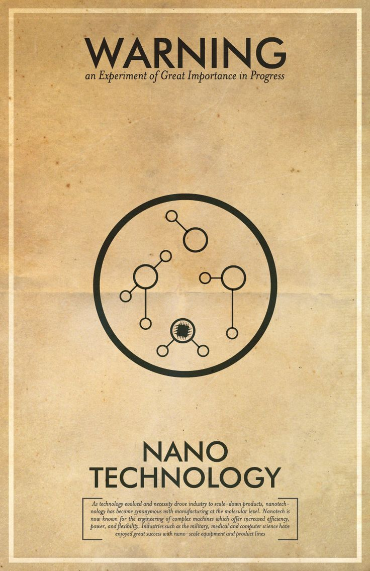 Fringe Science Warning Posters - Nanotechnology Inspired Vintage Iconography 11x17 Print. $18.00, via Etsy.