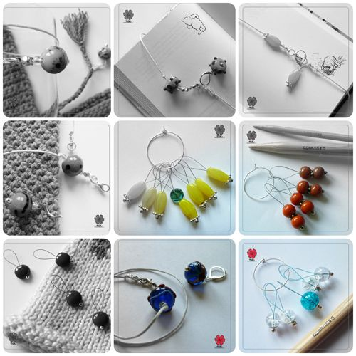 MAK jewellery for knitters and crocheters. Summer 2014 collection_teaser. See more at www.prawelewe.pl