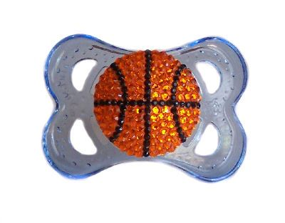 Basketball Bling Pacifier