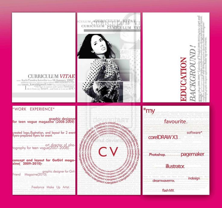 8 best creative cv images on Pinterest   Creative curriculum ...