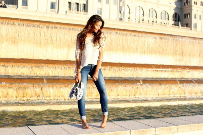 Nice look : casual jean  - Safia Vendome