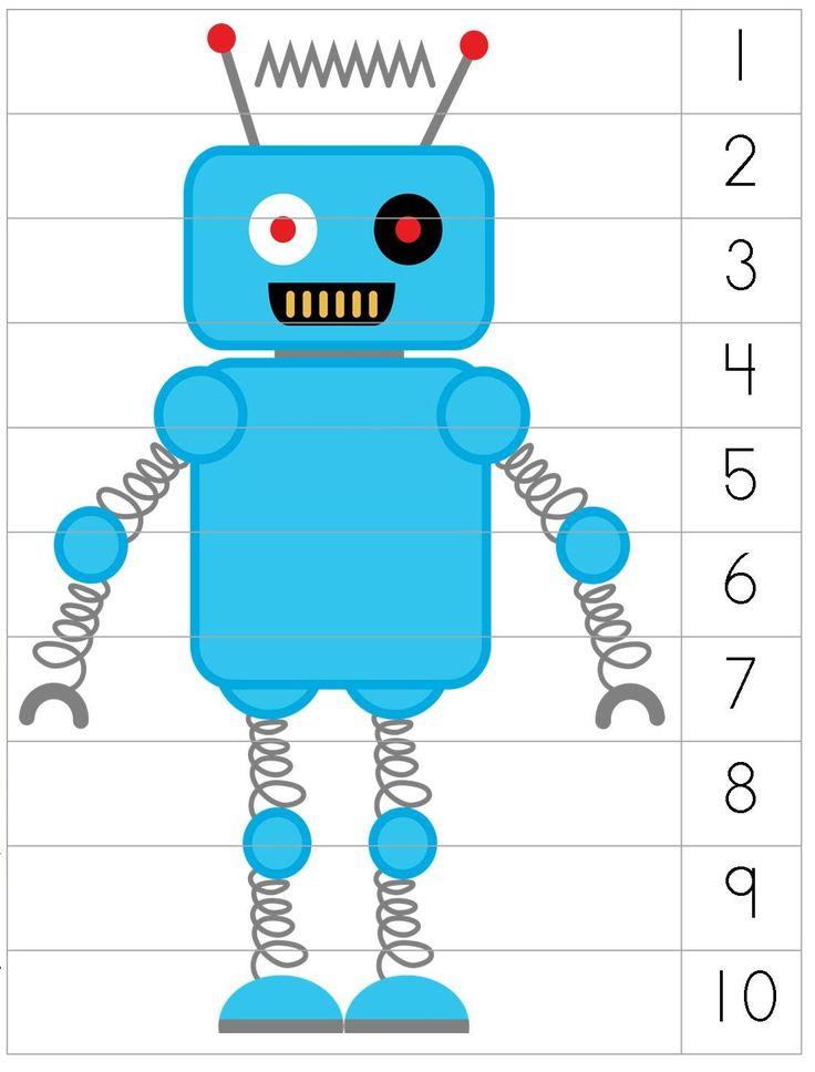 Robot Preschool Pack-  The coolest preschool pack I have EVER seen!