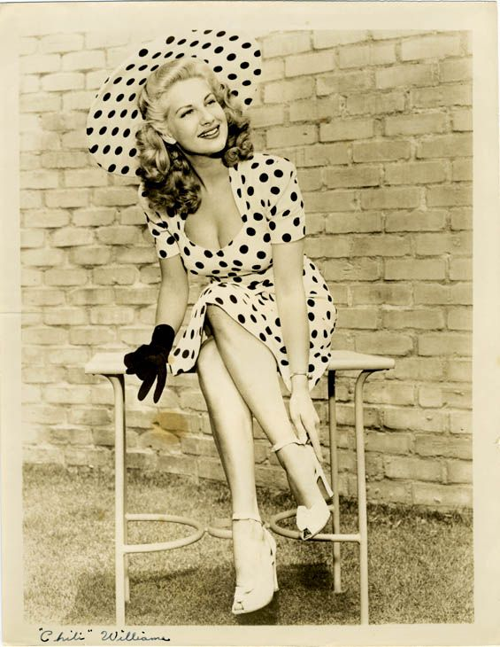 Polka dot fashion history 14