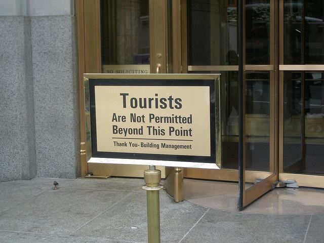 No queremos turistas, Edificio Woolworth, via Flickr
