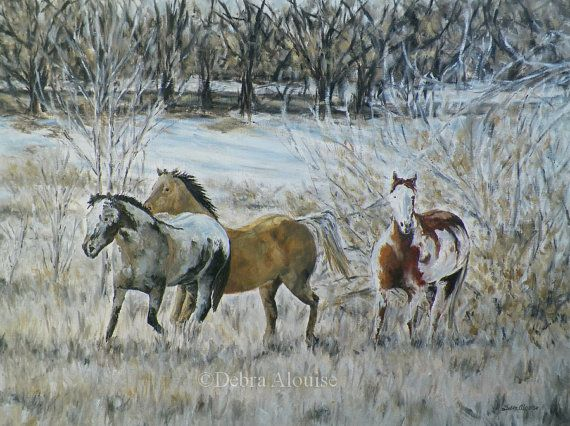 DONE Progress Winter Horses in Motion Updates Posted by grandhorse (Art & Collectibles, Painting, Oil, abstract surreal, oils on canvas, horse landscape, equine art, work in progress art, california artist, portrait, large original, animal artist, oil painting, winter landscape, snow, trees)