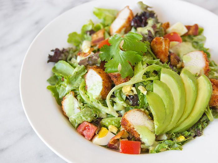 Parmesan-Crusted Chicken Salad Recipe with Honey-Dijon Dressing from Nordstrom Cafe. Photo by Jeff Powell.
