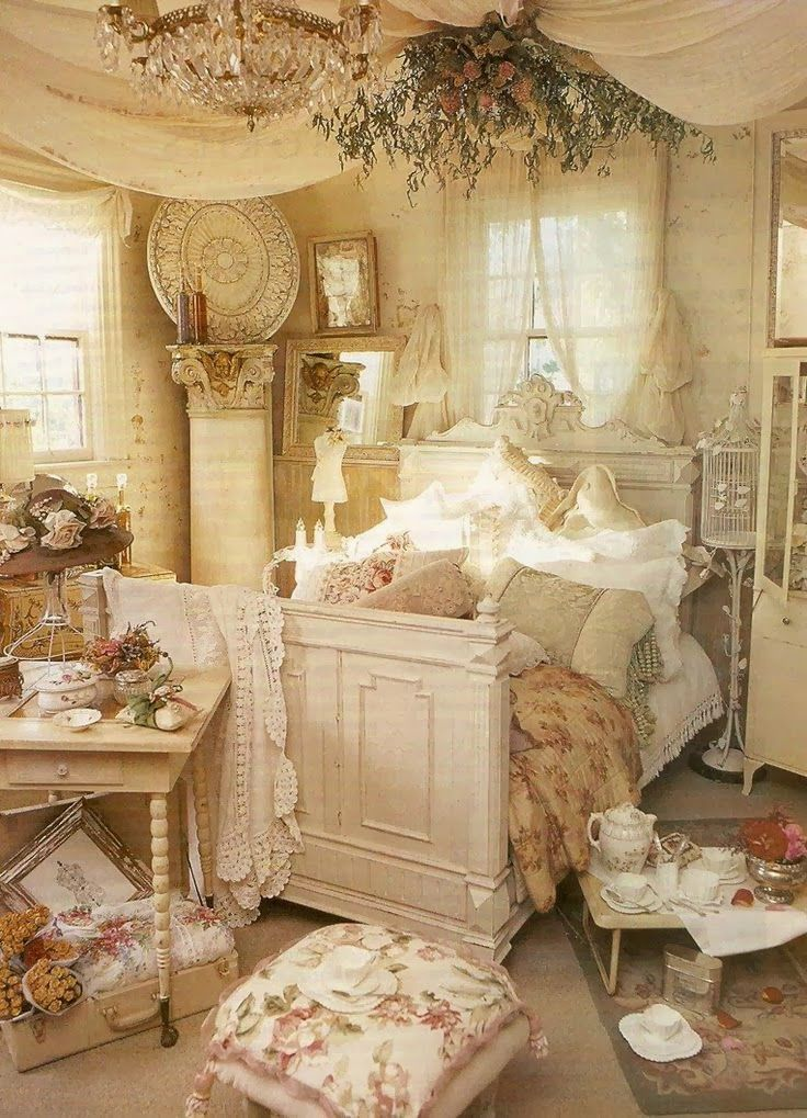98 best camere da letto images on pinterest | home, bedrooms and 3 ... - Letto Country Chic