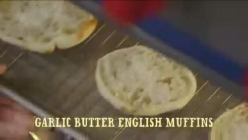 """Garlic Butter English Muffins (Good Ol' Days) - """"The Pioneer Woman"""", Ree Drummond on the Food Network."""