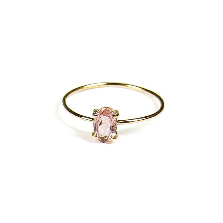 NEW - Anillo turmalina rosa en oro 18k
