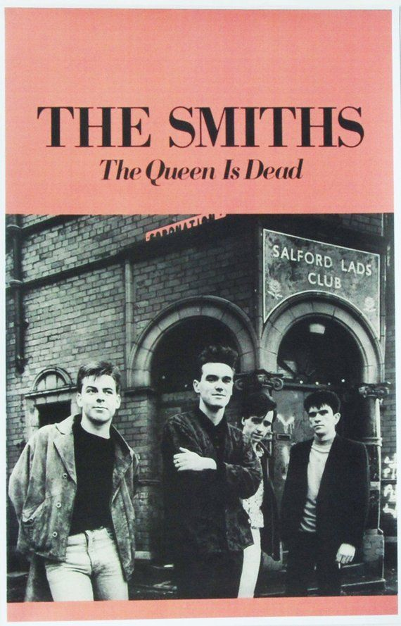 The Smiths The Queen Is Dead Us Promo Poster Rare Vintage Etsy In 2020 Vintage Music Posters Music Poster Design Will Smith