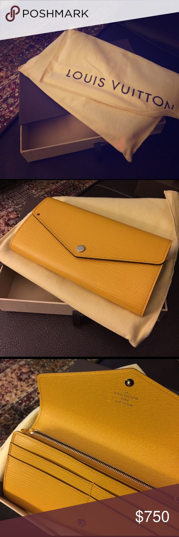 Louise Vuitton Sarah Wallet in Epi Mimosa Brand new, never used excellent condition Louis Vuitton Bags Wallets