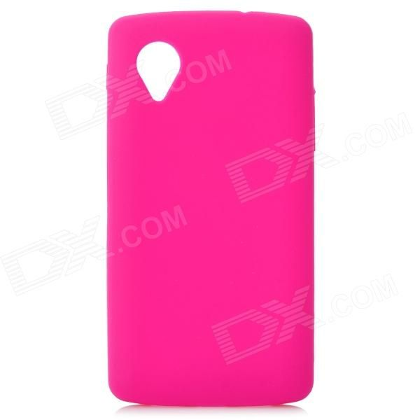 Color: Deep Pink; Brand: N/A; Model: N/A; Material: Silicone; Quantity: 1 Piece; Shade Of Color: Pink; Compatible Models: LG Nexus 5; Other Features: Protects your device from scratches, dust and shock; Packing List: 1 x Protective case; http://j.mp/1lklx4A