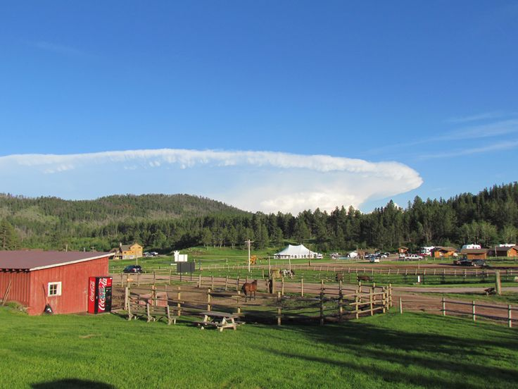 Beautiful clouds over the ranch.
