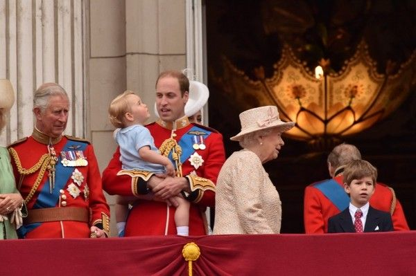 Prince George Attends the Trooping of the Colour for the First Time