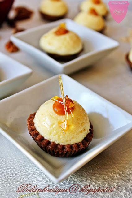Dolci in boutique: Tartellette al cioccolato con caramello e creme chiboust