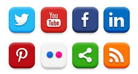 20 iconos de redes sociales populares (PSD & PNG)