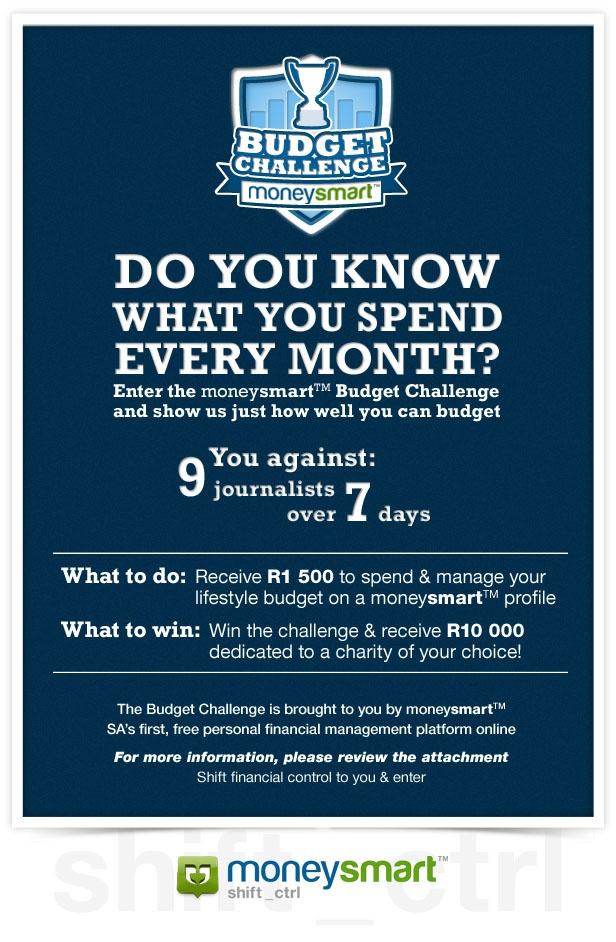 Budget Challenge presented by moneysmart invite emailer