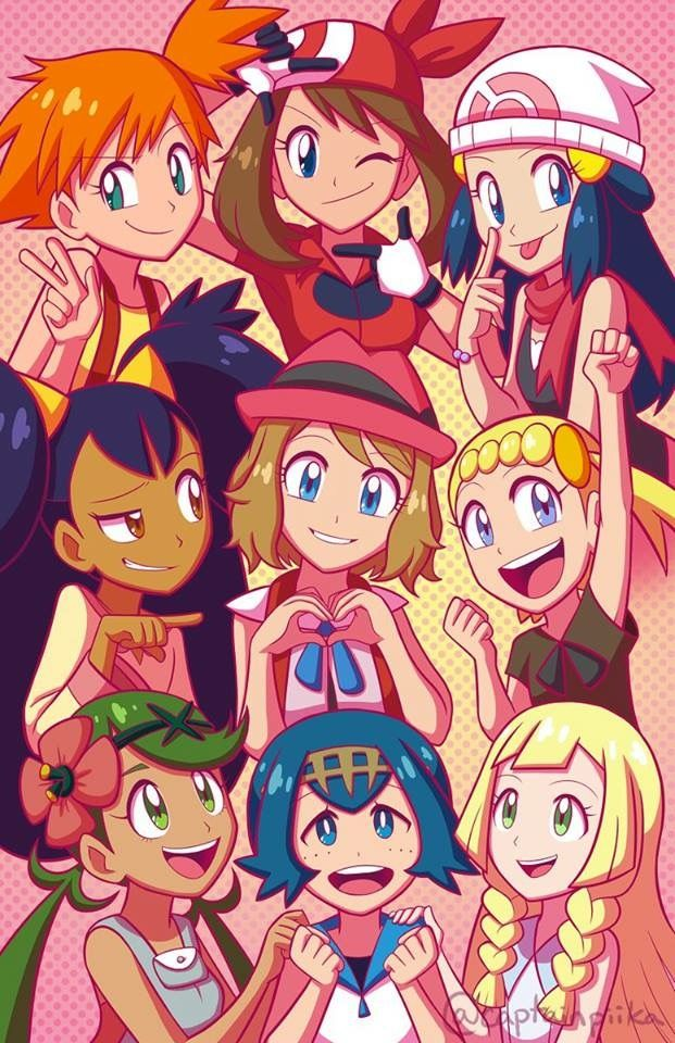 the girls of pokemon