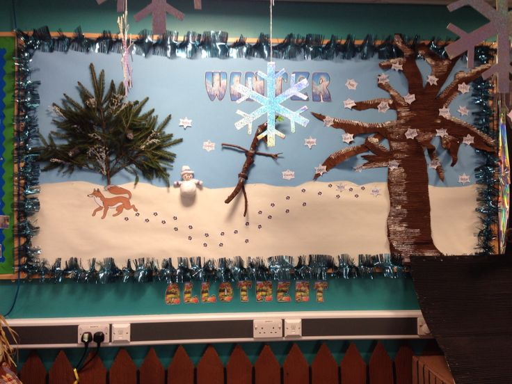 Winter display & stickman