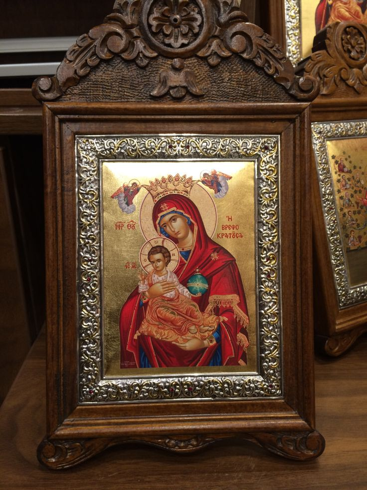 A personal favourite from my Etsy shop https://www.etsy.com/listing/491638199/our-lady-theotokos-with-the-child