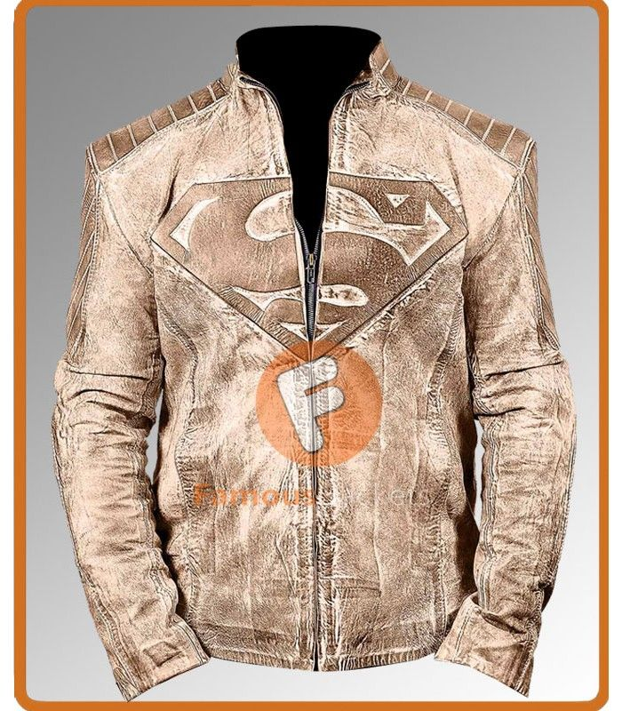 Superman Green Waxed Leather Jackets Superman Leather