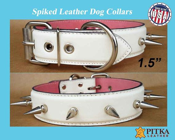 Spiked Dog Collars - Spiked Leather Dog Collars - Spiked Dog Collars for Large…