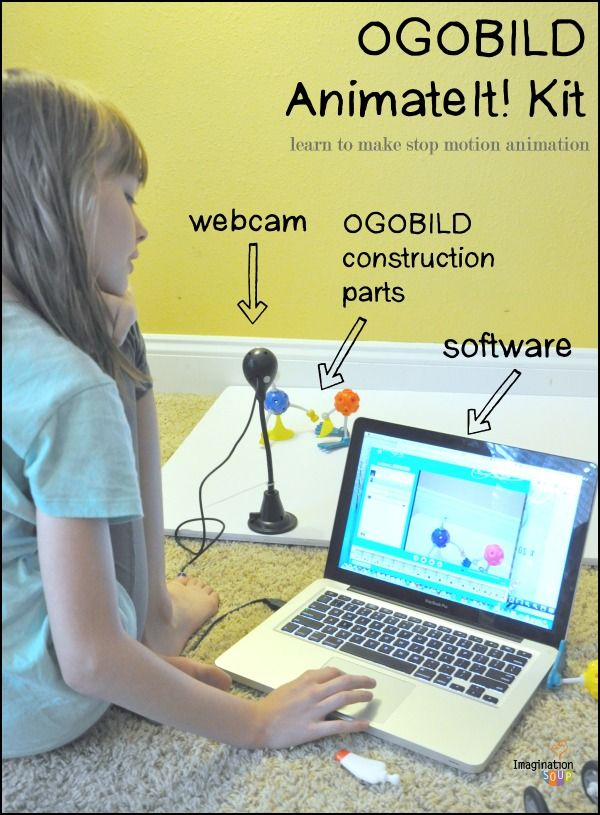 OGOBild's Animate It! Stop Motion Animation Software and Constructive Play Kit blends STEAM (science, tech, engineering, arts, math) education and PBL, or project based learning, to build a 21st century skill set.