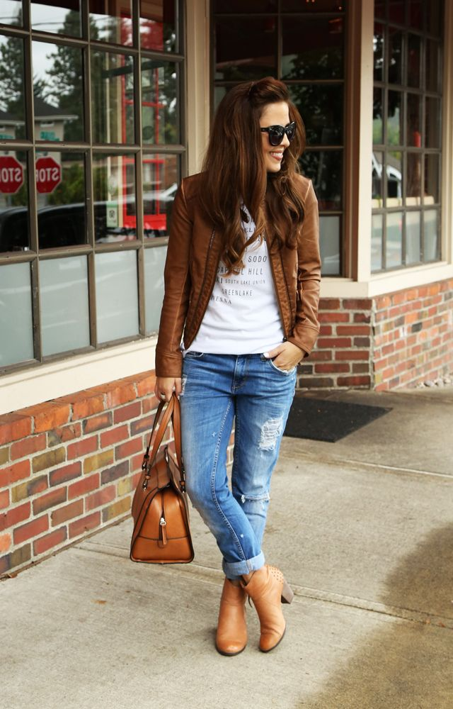 Pair your tank with a leather jacket, matching heals and a bag to really pack a punch