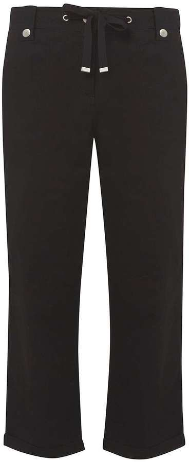 **Tall Black Cropped Trousers