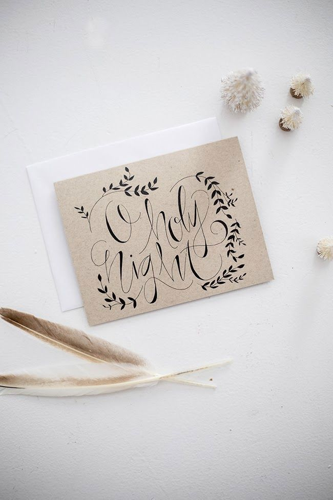 30 Beautifully Hand Lettered Holiday Cards - Printingdeals.org