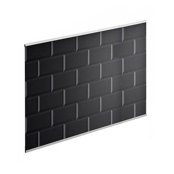 Crédence Carrelage Métro noir DELINIA, 60x45 cm, ép. 5 mm