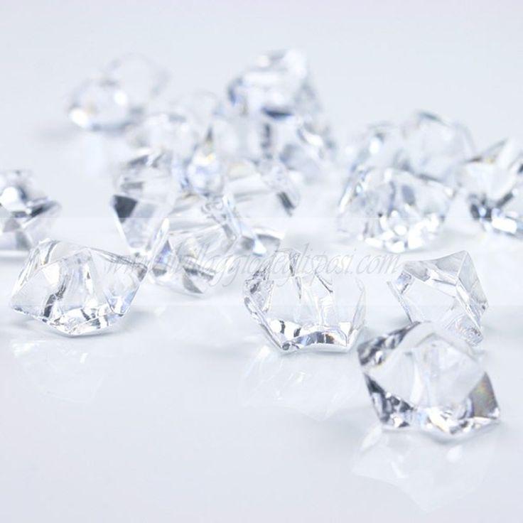 Cristalli di ghiaccio trasparenti.