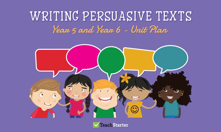 Writing Persuasive Texts Unit Plan - Year 5 and Year 6