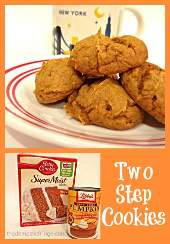 Two Step Spiced Pumpkin Cookies