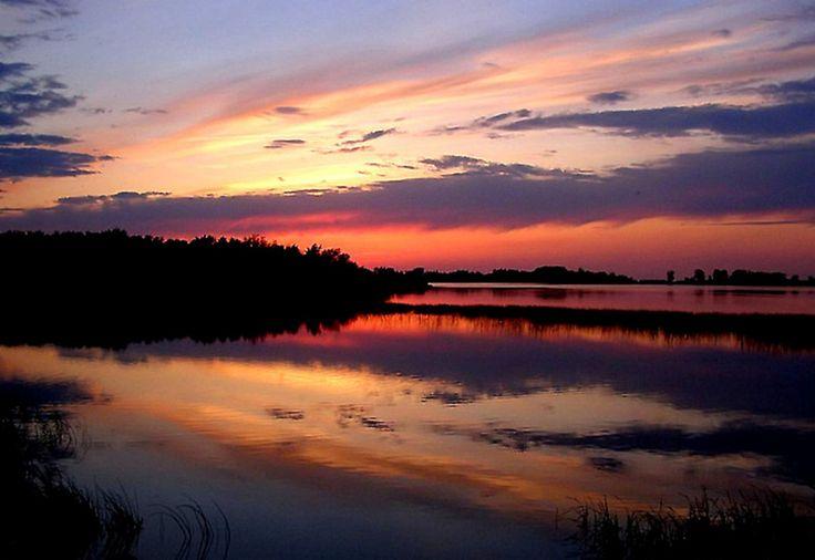 marsh sunset taken in grand beach