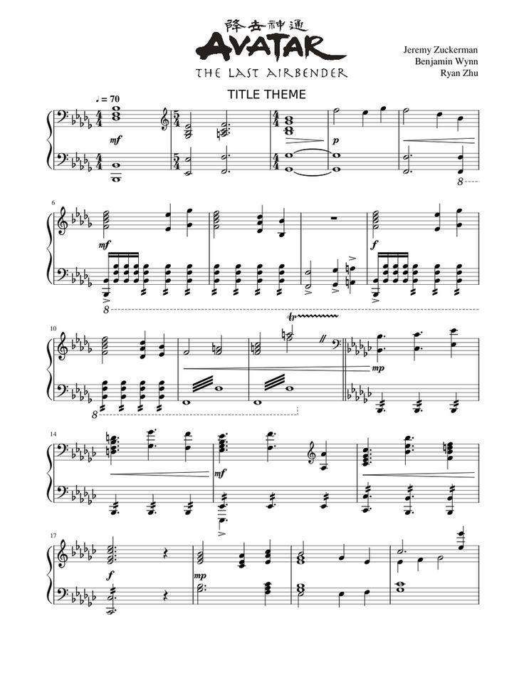 Atla Soundtrack : soundtrack, Print, Download, Avatar:, Airbender., Piano, Arrangement, Title, Music, Notes,, Popular, Sheet, Music,, Airbender