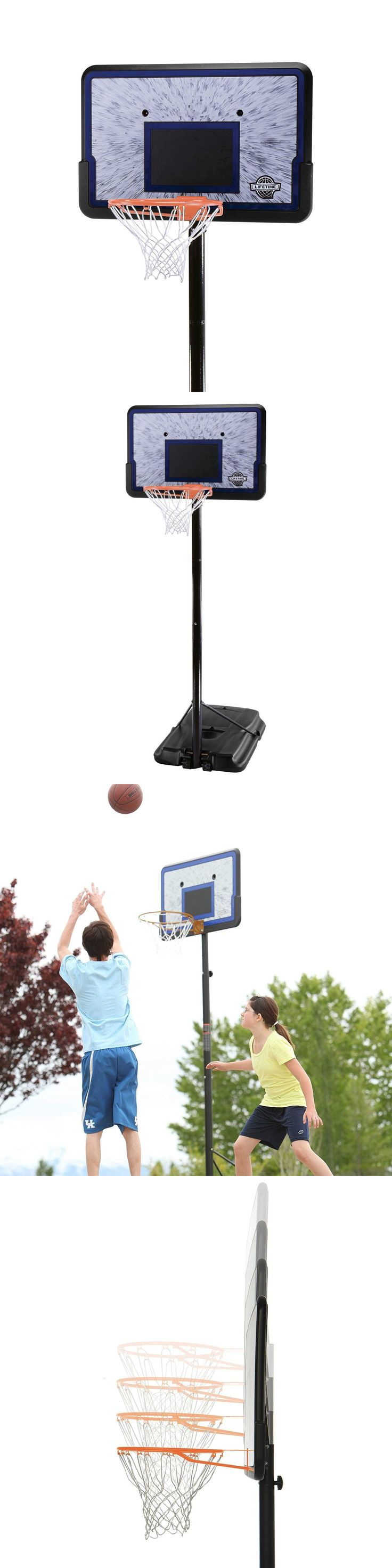 Backboard Systems 21196: Portable Lifetime 1221 Pro Court Height Adjustable Portable Basketball System -> BUY IT NOW ONLY: $97.99 on eBay!