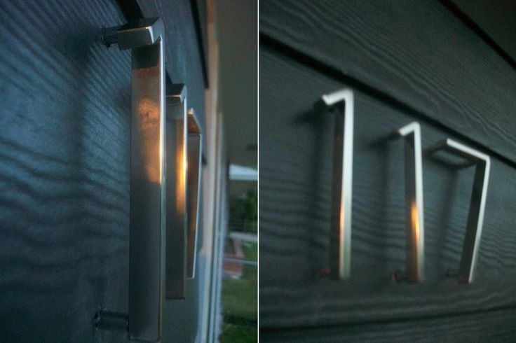 Lovely modern house numbers which light up so can be read even at night.